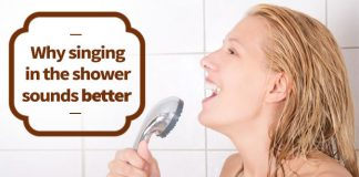 Why singing in the shower sounds better