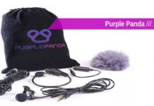 Purple Panda Lavalier Lapel Microphone cover